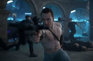 Jumping to the present with Michael Fassbender in a new imag