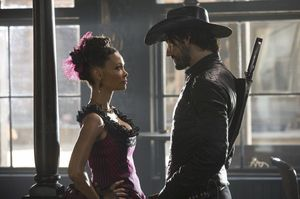 Thandie Newton as Maeve and Rodrigo Santoro as Hector Escato