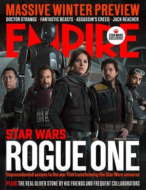 The heroes of Rogue One in a new Empire cover