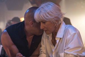 Vin Diesel and Helen Mirren in Fast and Furious 8