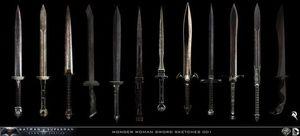 Wonder Woman's sword concept art