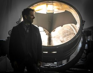 Zack Snyder shows off the bat symbol in Justice League