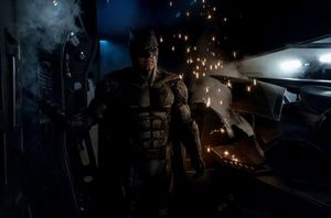 Ben Affleck in the new, tactical Batsuit for 'Justice League