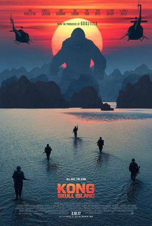 Humanity takes on a monster in a new poster for 'Kong: Skull