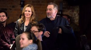 "Leslie Mann and Robert De Niro in ""The Comedian"""