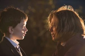 "Lewis MacDougall and Sigourney Weaver in ""A Monster Calls"""