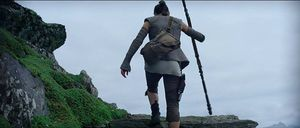 Rey heads to the Jedi Temple