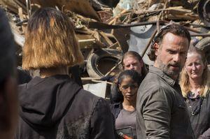 Rick looks at new character Jadis, S07E10
