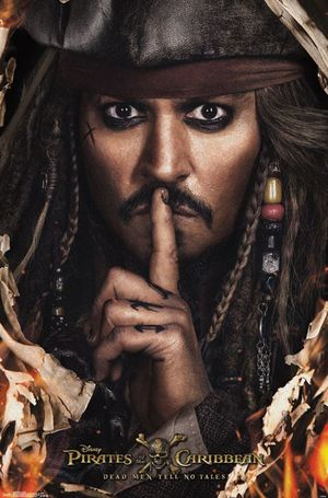 New poster of Johnny Depp as Captain Jack Sparrow