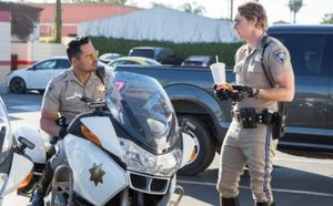 """Michael Pena and Dax Shepard in """"CHIPS"""""""