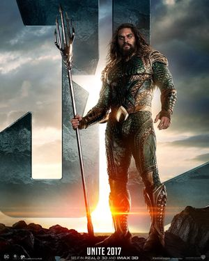 Aquaman stands tall in first poster ahead of 'Justice League