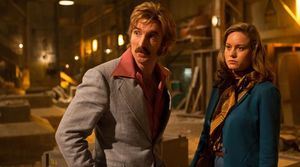 """Sharlto Copley and Brie Larson in """"Free Fire"""""""