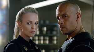 "Charlize Theron and Vin Diesel in ""The Fate of the Furious"""