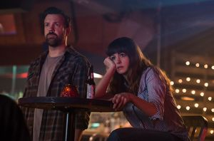 """Jason Sudeikis and Anne Hathaway in """"Colossal"""""""
