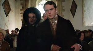 "Rachel Weisz and Sam Claflin in ""My Cousin Rachel"""