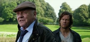 """Anthony Hopkins and Mark Wahlberg in """"Transformers: The Last Knight"""""""