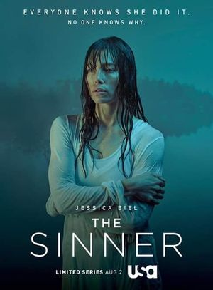 "Poster for USA Network's limited series ""The Sinner"" starrin"