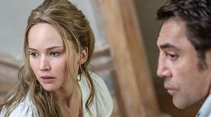 "Jennifer Lawrence and Javier Bardem in ""mother!"""