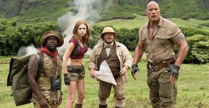 Kevin Hart, Karen Gillan, Jack Black and Dwayne Johnson