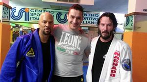 Common, Master Salandra, Keanu training for 'John Wick 2'