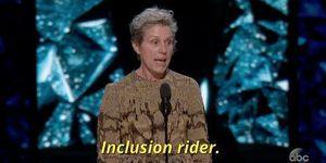 Read my lips: Inclusion Rider