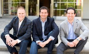 Cobra Kai creators, from left: Josh Heald, Jon Hurwitz and H