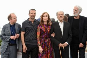 Michael Haneke and the cast of Happy End at the Cannes Film