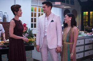 Michelle Yeoh, Henry Golding and Constance Wu