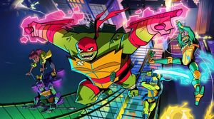 A scene from 'Rise of the Teenage Mutant Ninja Turtles'