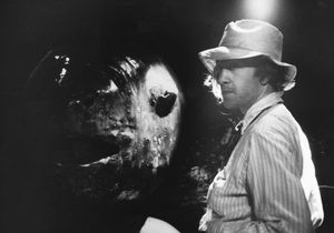 "David Lynch on the set of Eraserhead with ""Spike"""