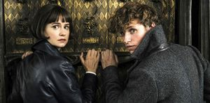 Katherine Waterston and Eddie Redmayne