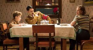 Taika Waititi and Scarlett Johansson in 'Jojo Rabbit'
