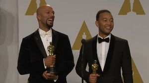 "Best Original Song Winners John Legend and Common Talk ""Glor…"