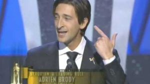 Adrien Brody Steals a Kiss on Accepting Best Actor in 2003