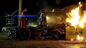 """The bat is dead"" - Batman v Superman clip teases the epic s"