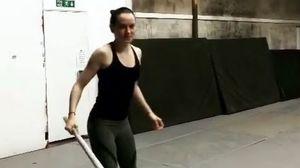 Instagram set photo shows off Daisy Ridley's lightsaber skil