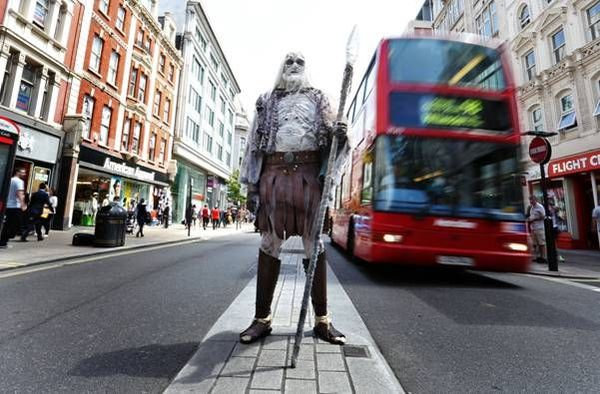 White Walker from Game of Thrones spotted in London