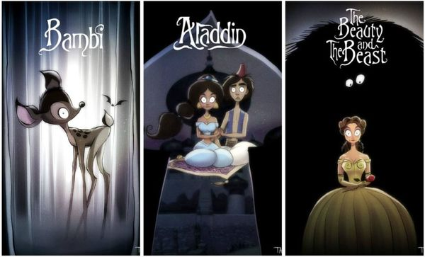 Artist Designs Depict What Each Disney Film Would Look Like If Done By Tim Burton