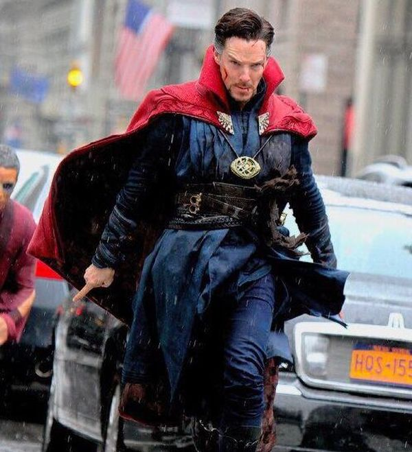 Benedict Cumberbatch as Doctor Strange On Set