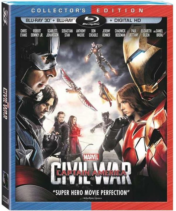 Blu-ray, Digital HD Release Dates and Features Officially Revealed for 'Captain America: Civil War'