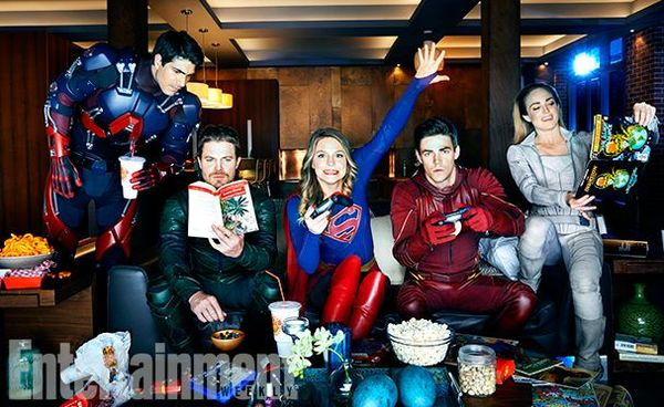 First images from the Four-Series Superhero Crossover on The…
