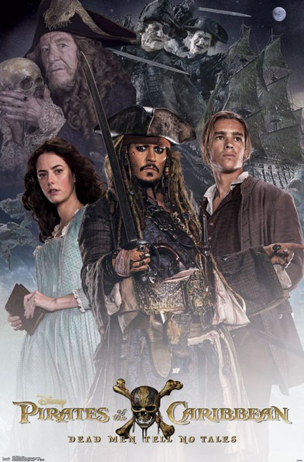new cast poster for pirates of the caribbean dead men