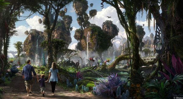 Bob Iger and James Cameron Do The Opening Dedication Ceremony for Pandora