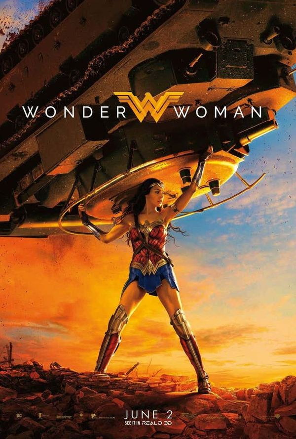 Diana Can Hoist A Tank! New 'Wonder Woman' RealD Poster