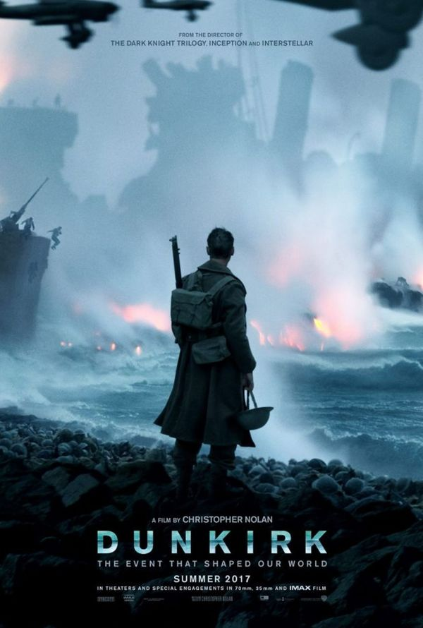 """Christopher Nolan's 'Dunkirk' is among 2017's """"best"""" films according to critics..."""