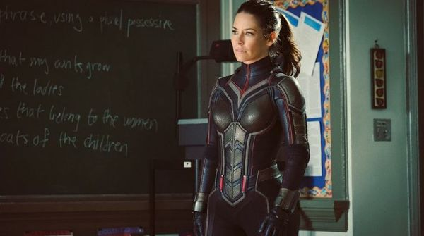 Evangeline Lilly suits up for 'Ant-Man and the Wasp'