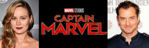 Jude Law set to star opposite Brie Larson in 'Captain Marvel'