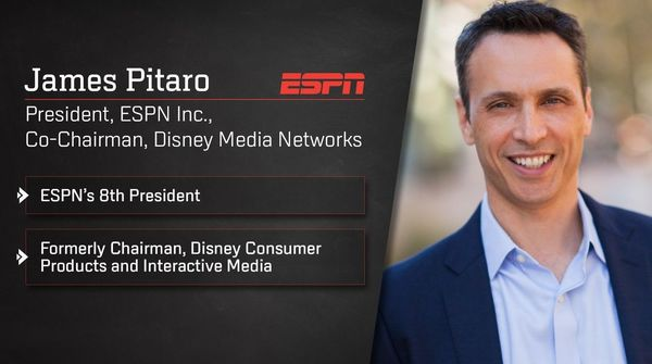Disney Executive James Pitaro Named President of ESPN and Co-Chair, Disney Media Networks