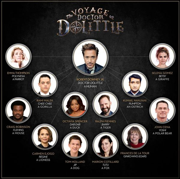 Meet the cast of Universal's 'The Voyage of Doctor Dolittle'