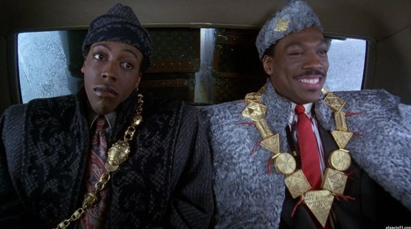 "Eddie Murphy and Arsenio Hall reunite for ""Coming to America 2"""